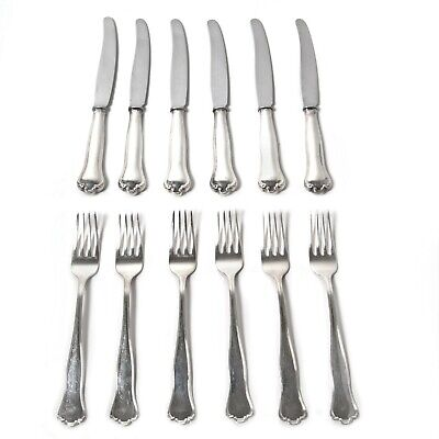 """Silver dining forks and knives for 6 people, 12 items. """"Kungsholm"""", CGH, 1959"""