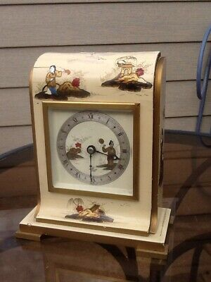 Elliott Chinoiserie Mantel Clock For Renovation!