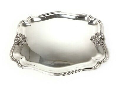 Big massive silver tray. Was imported to Sweden, Stockholm, year 1944.