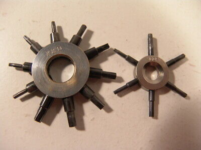 Good Pair of Pocketwatch/Wristwatch Sleeve Wrenches; K&D, Vigor