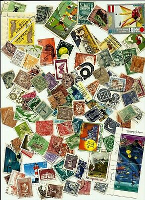 WORLDWIDE COLLECTION LOT of 800 PLUS STAMPS USED/USED OFF PAPER