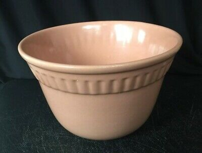 "Vintage Metlox MCM 7 3/4"" Mixing Bowl Mission Bell Pottery USA Peach"