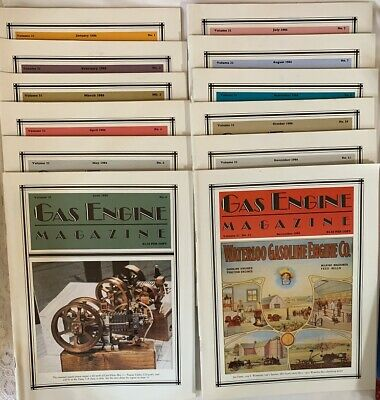 GAS ENGINE MAGAZINE 1986 Vol 21 Complete year set 12 issues