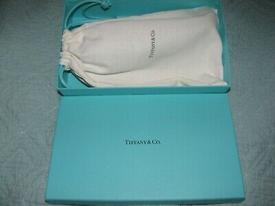 Tiffany & Co. Case Blue Leather Cosmetic Jewelry Leather with Silver Zipper