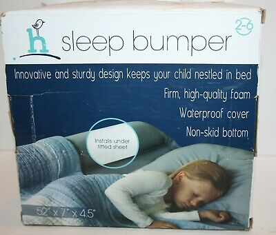 """Hiccapop Sleep Bed Bumper Guard 52"""" x 7"""" x 4.5"""" for Ages 2-6 Years *Open Box*"""
