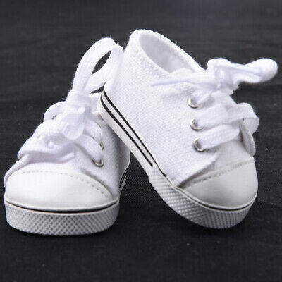 Handmade Fashion white shoes For 18inch Doll Tennis Shoes Gift P4W2