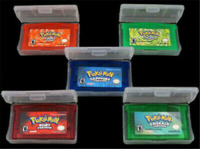 5pcGame Cards Pokemon Sapphire/Emerald/FireRed/LeafGreen/Ruby for GBM/GBA/SP/NDS