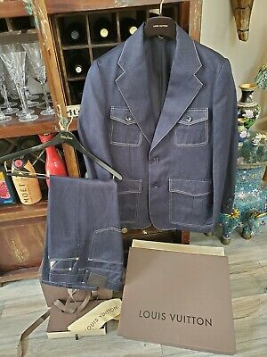 Mens Louis Vuitton Denim Suit Size 52 (42 US) Made In Italy pants 40