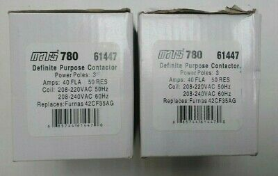 Mars 780 Definite Purpose Contactor 61447 QTY OF 2 BRAND NEW