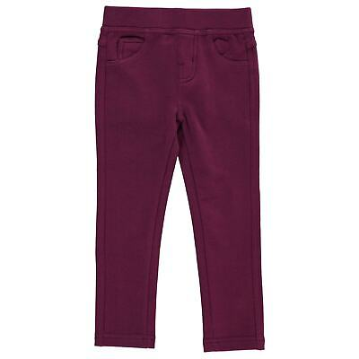 Lee Cooper Kids Solid Jeggings Bottoms Pants Trousers Infant Girls