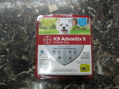 K9 Advantix II Flea Medicine Medium Dog 4 Month Supply Pack K-9 11-20 lbs