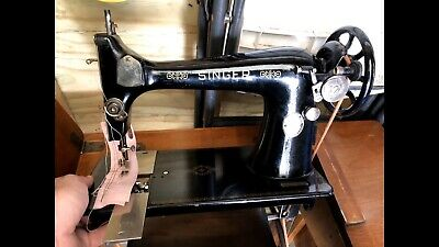 Antique Singer treadle sewing machine and cabinet