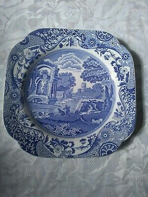 Spode Blue And White Italian Collection Shaped Plate 22.5cm x 22.5cm
