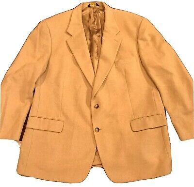 Brooks Brothers Mens Blazer 48 R 100% Camel Hair Tan Single Breasted 2 Button