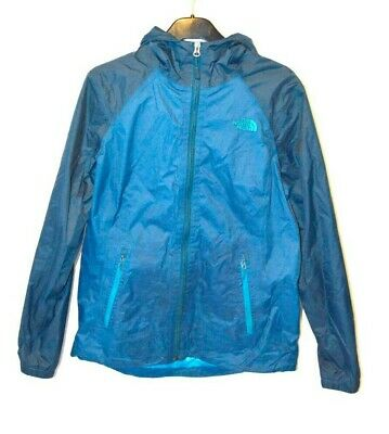 Women's The North Face DRYVENT Waterproof Shell Hooded Blue Jacket Medium M