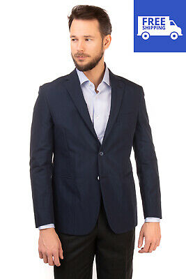 RRP €230 REPORTER Blazer Jacket Size 52 / XL Single Breasted Notch Lapel Collar