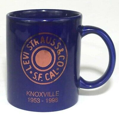 VTG 1998 Levi Strauss & Co Denim Jeans Logo Knoxville TN Blue Coffee Mug/Cup
