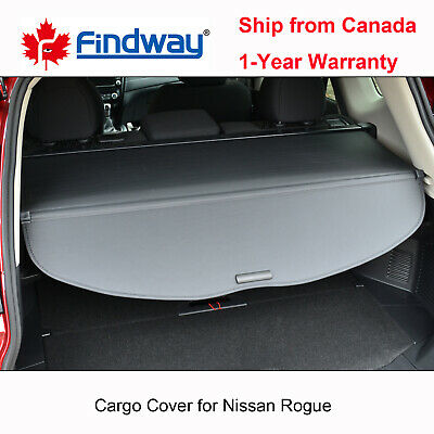 Black Cargo Cover Anti-Theft Shield For 2014-2020 Nissan Rogue