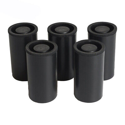 10pcs Plastic Empty Black Bottle Case 35mm Film Cans Canisters P V2Y4 S1H9