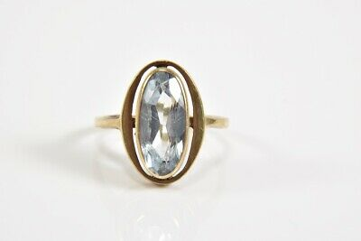i87t50- 333er/ 8kt Gold Ring mit Aquamarin