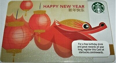 Starbucks 2011 Chinese Happy New Year Gift Card Never Used/Loaded Free Shipping!