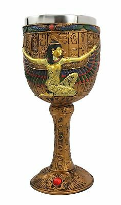 "6.75""H Ancient Egyptian Isis Wine Goblet Chalice Cup Game of Thrones Room Decor"