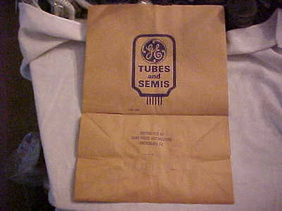 10 NOS GE General Electric Advertising Tubes Semiconductors Paper Bags Ca 1950's