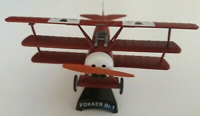 Red Baron Fokker Dr 1 Tri Plane Scale 1:23 Diecast Model