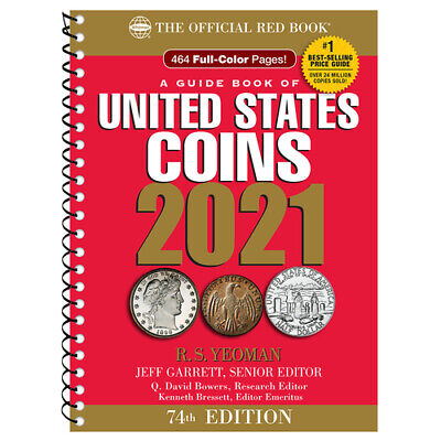 The NEW 2021 Official Red Book Guide United States Coins 74th SPIRAL Edition