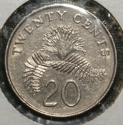 1996 SINGAPORE 20 cents  2nd Floral Series (52E)