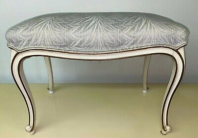 Vintage French Provincial Ottoman Stool Bench