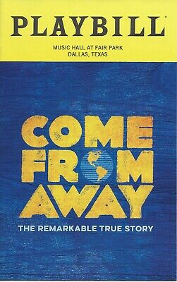 Come From Away Playbill Music Hall at Fair Park Dallas December 2019
