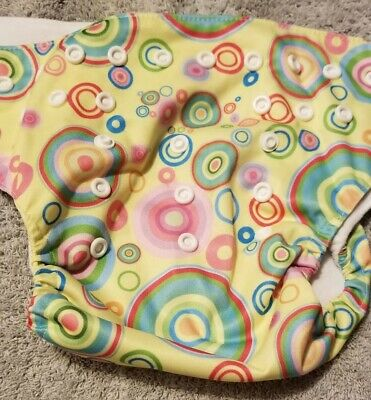 (I) Colorful Circles Cloth Pocket Diaper Size: OS