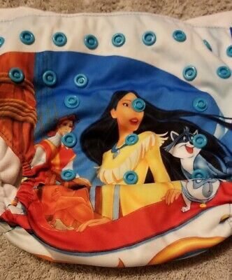 (I) Disney Pocahontas Cloth Pocket Diaper Size: OS