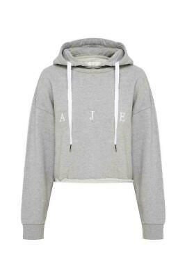 NWT AJE Grey Pullover Crop Hoodie Hooded Jumper Top Sweatshirt Hoody Grey S/8-10