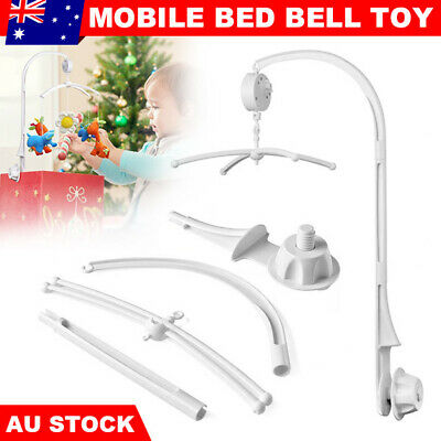 Baby Mobile Crib Cot Musical Bed Bell Wind up Music Box DIY Holder Arm Rotary