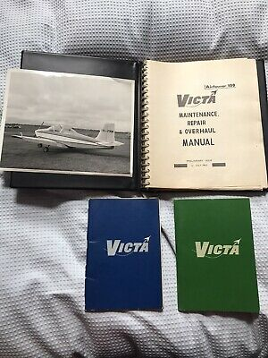 Victa Airtourer 100 maintenance repair manual, 2 flight manuals 100 & 115 lot