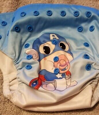 (I) Baby Captain America Cloth Pocket Diaper Size: OS