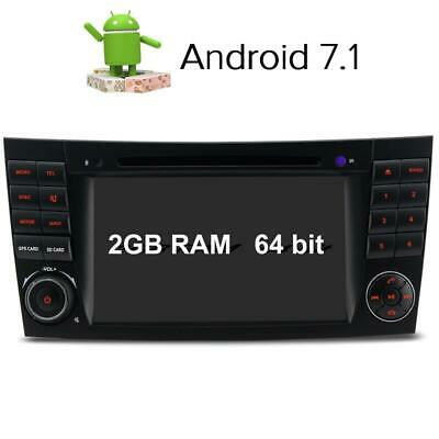 7'' Android 2GB RAM GPS DVD CD Autoradio Mercedes Benz E G CLS Class W211 W219
