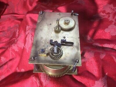 Winterhalder And Hoffmier Single Train Clock Movement For Spares Or Repair