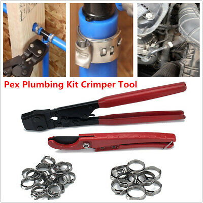 "Plumbing Crimper Tool Lock Hook Cutter Stainless Steel Cinch Clamps 1/2 "" 3/4"""