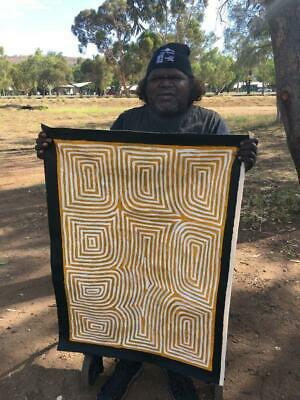 Jake Tjapaltjarri    (George Hairbrush's Son)   90cm x 62cm