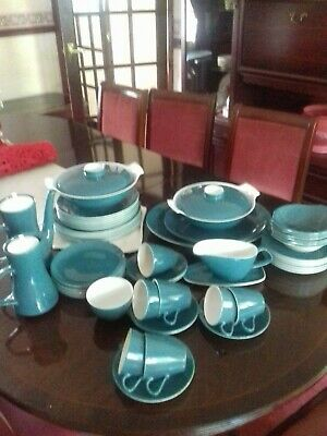 Large Poole pottery dinner service