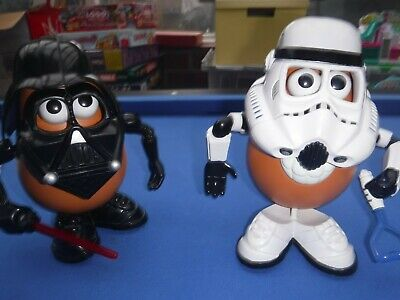 Large Mr Potato Head Star Wars Storm Trooper And  Darth Vader .