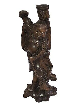 Oriental Japanese / Chinese Root Carved Figure Wood Carving