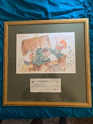 Framed One Nation Party Caricature & Reserve Bank Cheque
