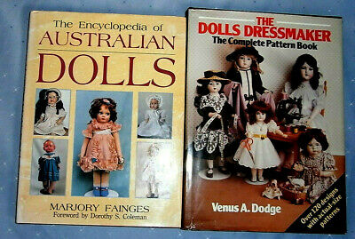 Two doll books - Australian Dolls by Marjory Fainges & Dolls Dressmaker Patterns