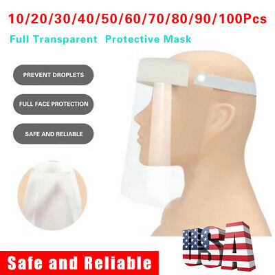 10-100*Safety Anti-fog Full Face Shield With Clear Transparent Work Industry Lot