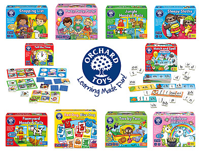 Orchard Toys - Educational Games For Kids - Choose Game From Drop Down Menu
