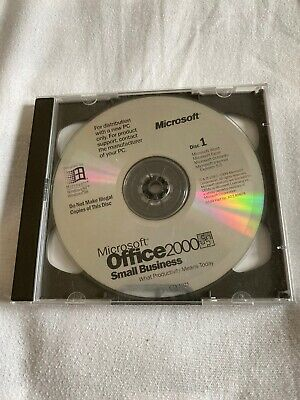 Microsoft Office 2000 Disk Small Business Edition Software For Windows